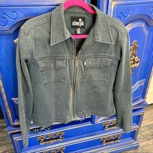 Vintage SILVERTAB LEVI'S Gray Denim Jean Jacket M